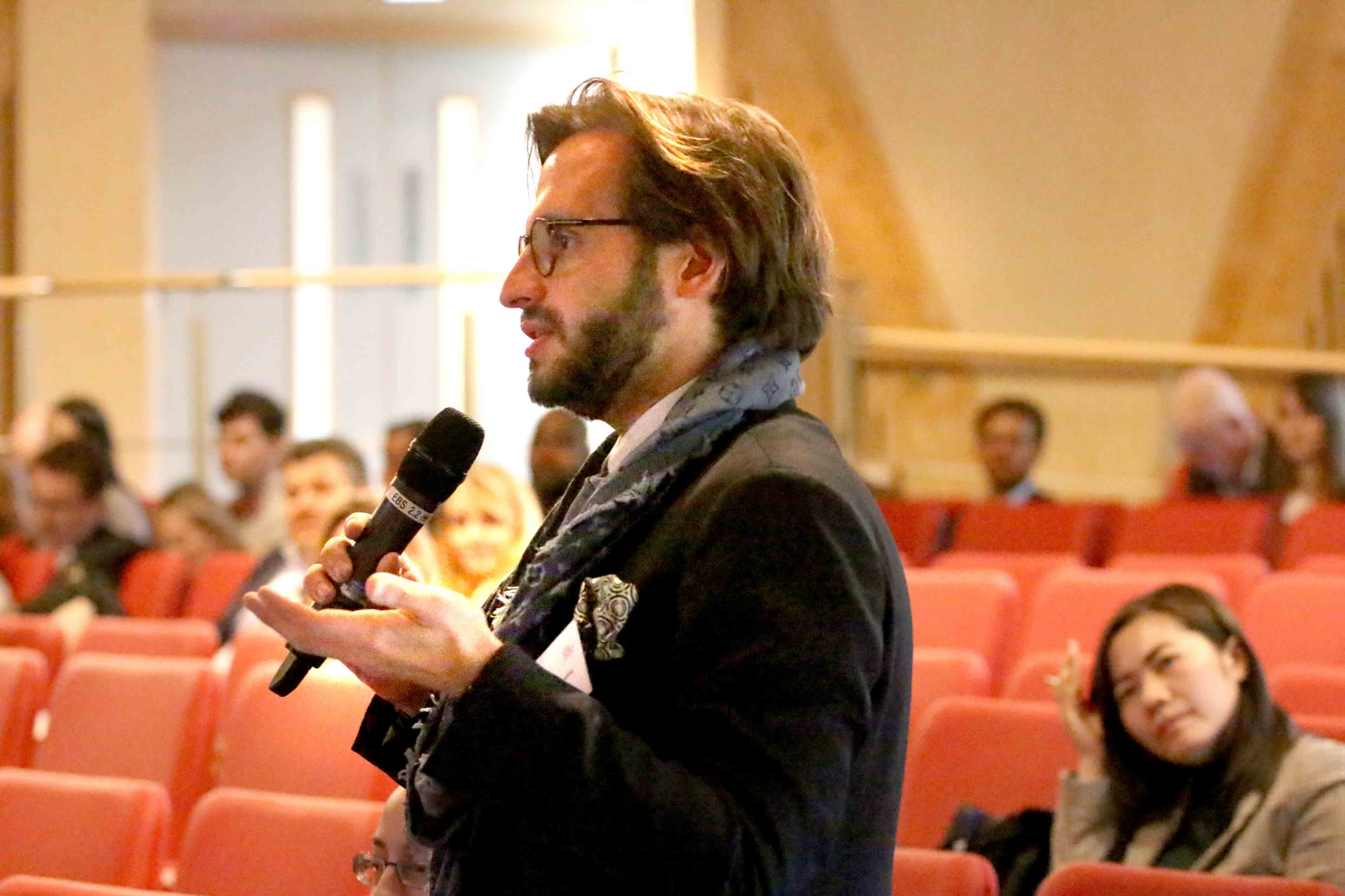 Conference attendee Alessandro Merendino