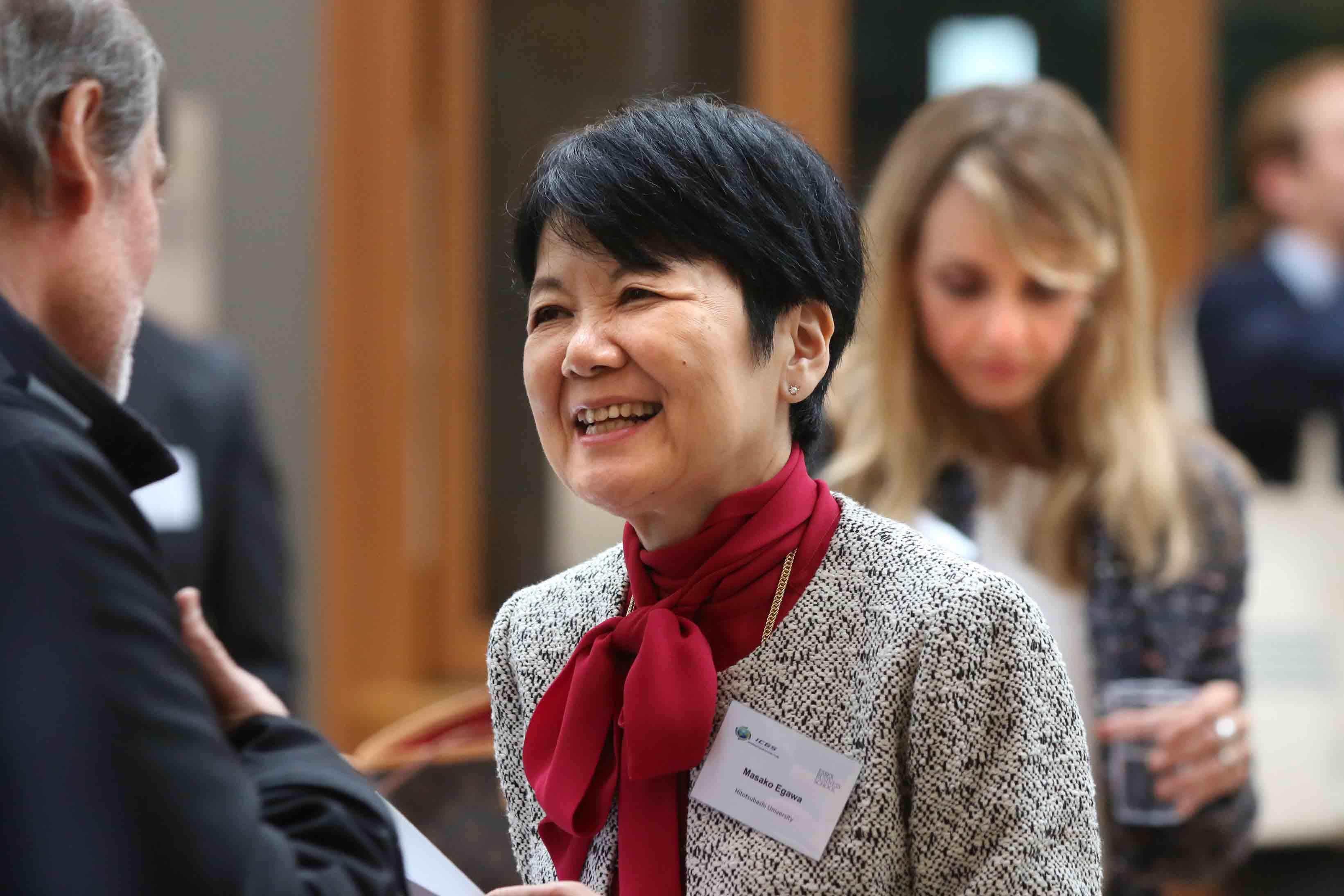 Conference attendee Masako Egawa
