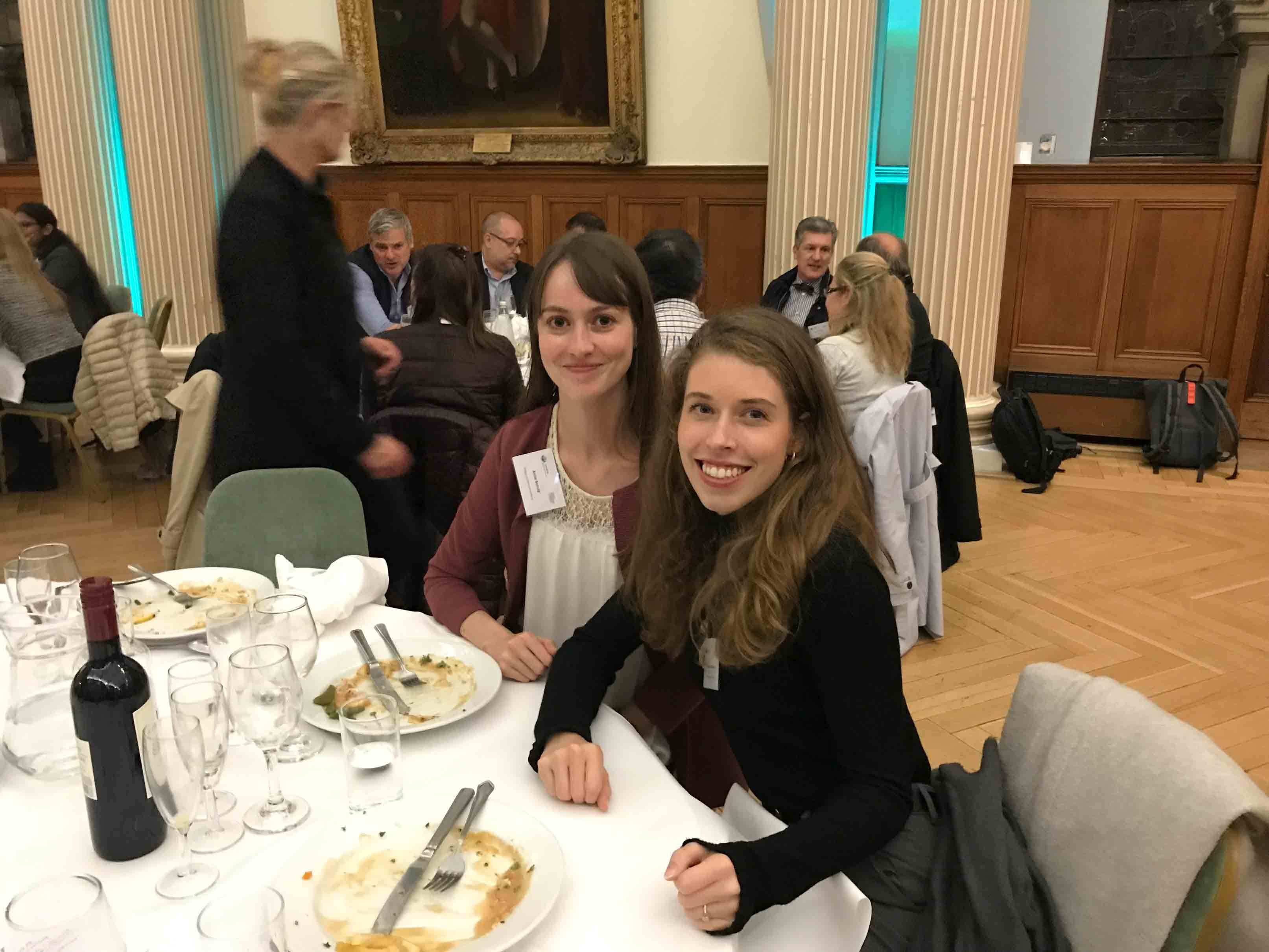 PhD Consortium students enjoy the evening at Moot Hall.