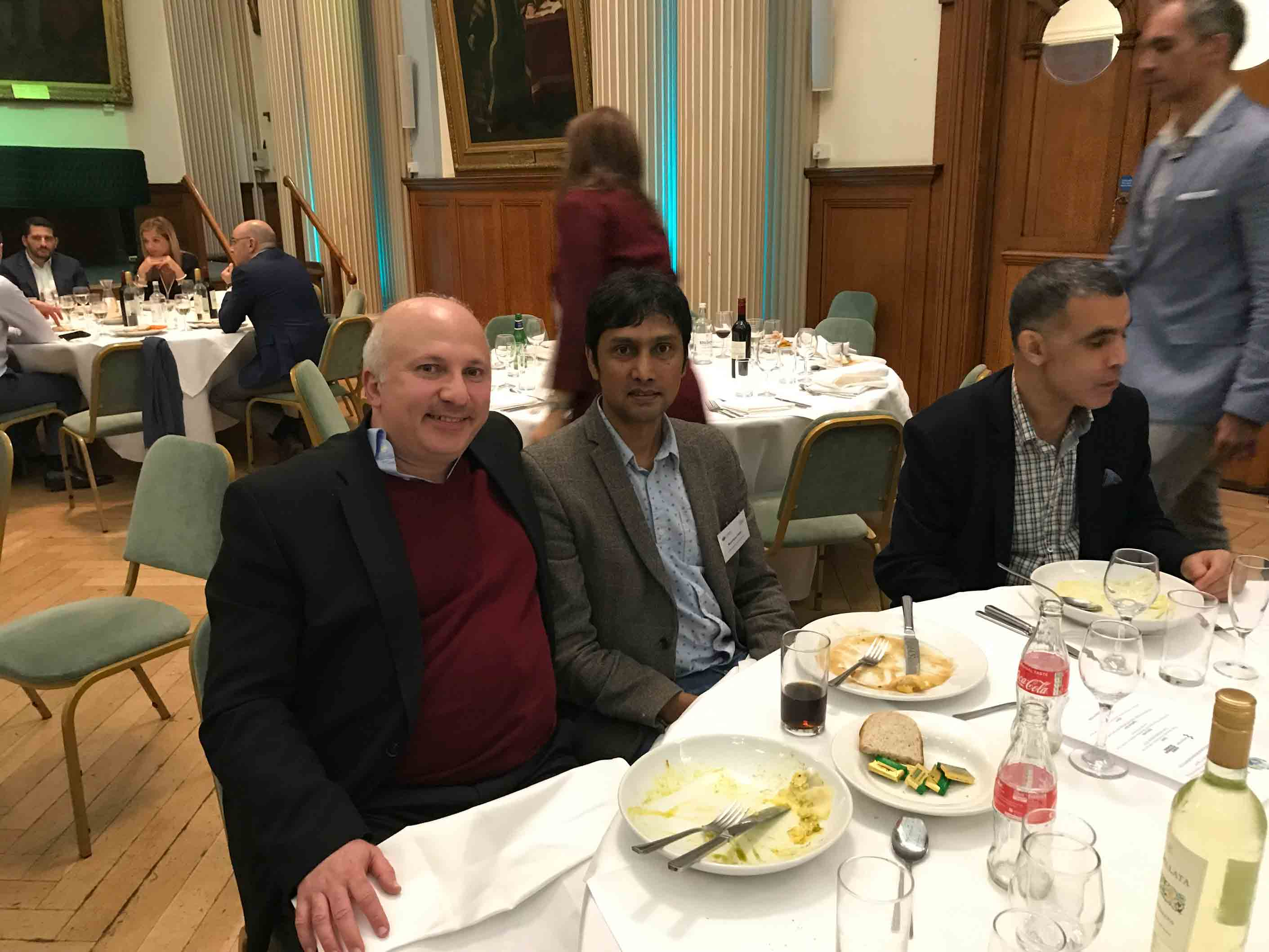 Plenary Panel participant Shlomo Tarba and conference attendees enjoy a great dinner at Moot Hall.